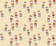 Chairs seamless pattern Stock Photos