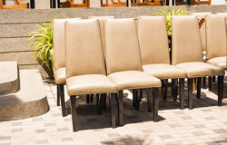 Chairs seats outdoor Royalty Free Stock Photo