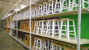 Chairs selling at store Royalty Free Stock Images