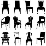Chairs set Royalty Free Stock Photos
