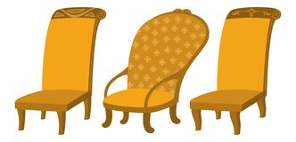 Chairs, set Royalty Free Stock Photos