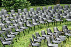 Chairs of show Stock Photography