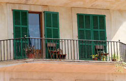 Chairs on Spanish balcony Royalty Free Stock Image