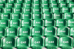 Chairs in the sports stadium Royalty Free Stock Image