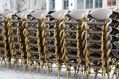 Chairs stacked  Namur Belgium Stock Photography