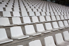 Chairs on stadium Stock Images