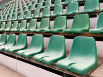 Chairs in stadium Stock Photography