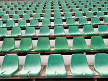 Chairs in stadium Royalty Free Stock Images