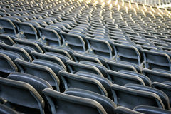 Chairs at stadium Royalty Free Stock Photography