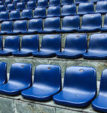 Chairs in stadium Stock Images