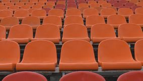 The chairs at the stadium stock video footage