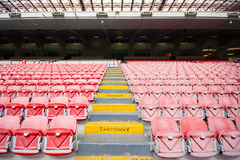 Chairs on the stadium Stock Image