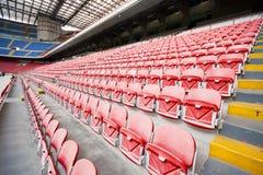 Chairs on the stadium Stock Photo