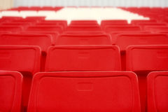 Chairs in the stadium Stock Image