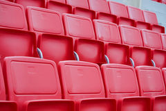 Chairs in the stadium Stock Photo
