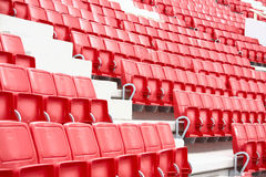 Chairs in the stadium Royalty Free Stock Photography