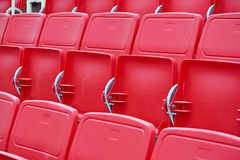 Chairs in the stadium Stock Photography