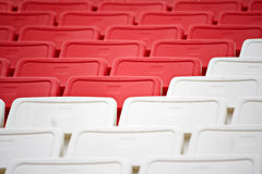 Chairs in the stadium Royalty Free Stock Photos
