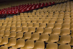 Chairs on the stadium Stock Photos