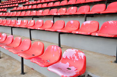 Chairs of stadium Stock Photos