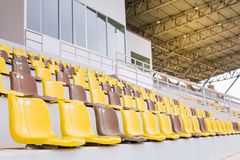 Chairs at the stadium Royalty Free Stock Photos