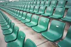 Chairs in stadium Royalty Free Stock Photos