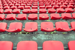 The chairs of the stands of a football stadium Royalty Free Stock Photo