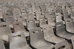 Chairs on a street. Lots of similar chairs on a street Stock Photos
