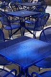 Chairs in summer cafe Royalty Free Stock Photos