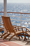 Chairs on a Sunny Ships Deck Royalty Free Stock Image