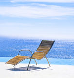Chairs in a swimming pool Royalty Free Stock Photography