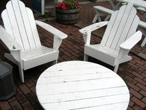 chairs tabell två Arkivbild