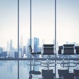 chairs tabellen för konferensmötelokal Arkivbild