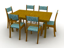 Chairs and a table Royalty Free Stock Photos
