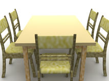 Chairs and a table Royalty Free Stock Images