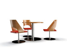 Chairs and table Stock Images
