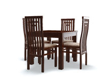 Chairs and table Royalty Free Stock Photos