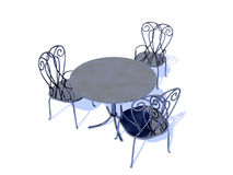 Chairs And Table stock illustration