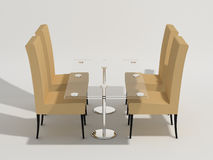 Chairs and table Royalty Free Stock Photo