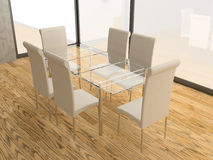 Chairs and table Royalty Free Stock Image