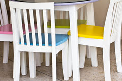 Chairs with the table Stock Image