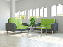 Chairs and a table in the livingroom Royalty Free Stock Photography