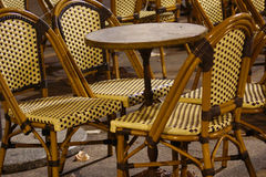 Chairs and table at night. Composition with several chairs and a table at night Stock Photography