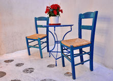 Chairs and table, street coffee taverna Royalty Free Stock Photos