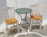 Chairs and table, traditional coffeehouse Royalty Free Stock Photography