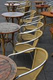 Chairs and tables. On a terras Royalty Free Stock Photo