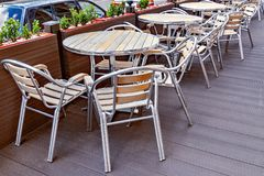 Chairs and tables. Stock Image