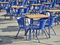 Chairs and tables. Coffee Terrace tables and chairs Stock Photos