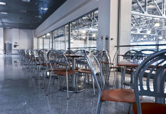chairs and tables in fastfood cafe Royalty Free Stock Images