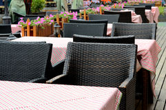 Restaurant chairs and tables Stock Image